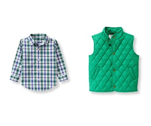 Janie and Jack shirt and quilted vest