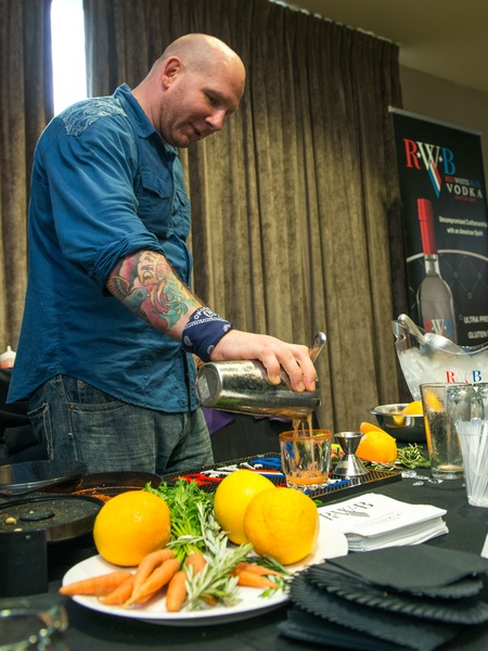 7 Michael McLemore at the Crafted mixology contest at Mr. Peeples July 2014