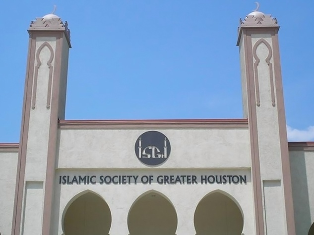 Islamic Society of Greater Houston Eastside main center 3110 East Side St. front day