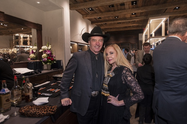 7 7866 Bob Boudreaux and Carolyn Farb at the Lucchese Grand Opening February 2015
