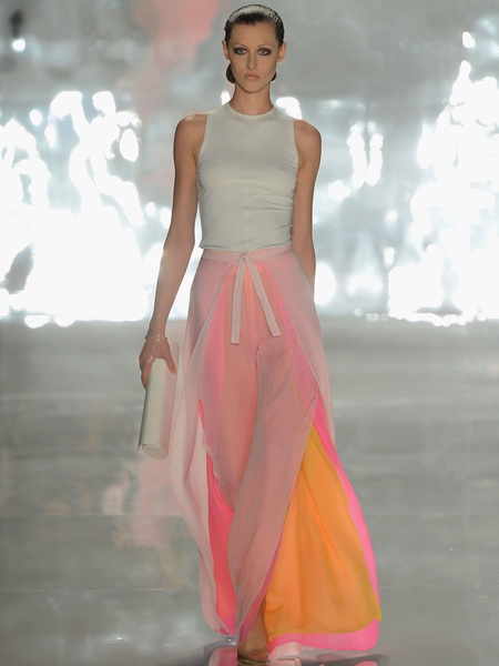 Clifford, Fashion Week spring 2013, Sunday, Sept. 9, 2012, Chado Ralph Rucci, sheer pants