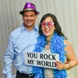 Party-goers having fun in the photo booth at the Young Professionals Backstage party January 2014