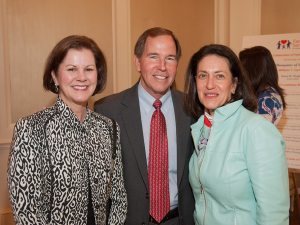 Family Services luncheon, March 2013, Susan Martin, Tom Martin, Madeleine Sheehy