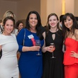 Nina Gutierrez Garcia, from left, Inez Moriarity, Chelsea Moriarity and Hasti Taghi at the Leukemia & Lymphoma Society Man & Woman of the Year Kick-off April 2015
