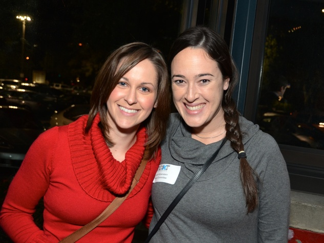 11 Laurie Sylvester, left, and Julie Rubenstein at the Holocaust Museum Houston's Next Generation Young Professionals kickoff party November 2013