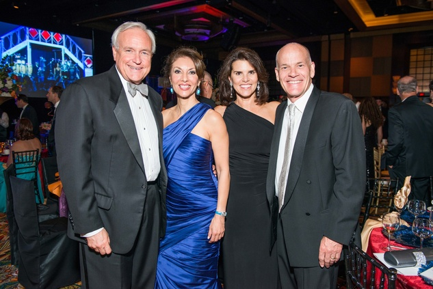 Bill King, from left, Neda Ladjevardian, Lisa Malosky and Don Friedell at the Circle of Life Gala April 2015