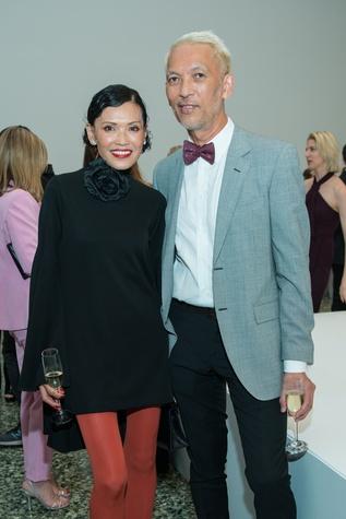 Marc Nguyen, Duyen Huynh at Oscar de la Renta fashion show at MFAH