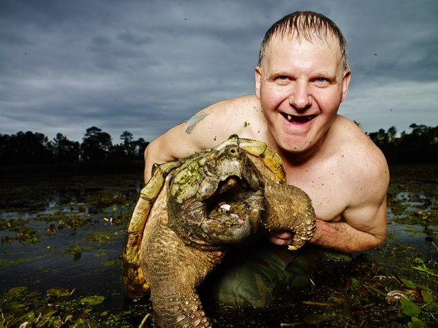 Ernie Brown Turtleman Animal Planet with turtle