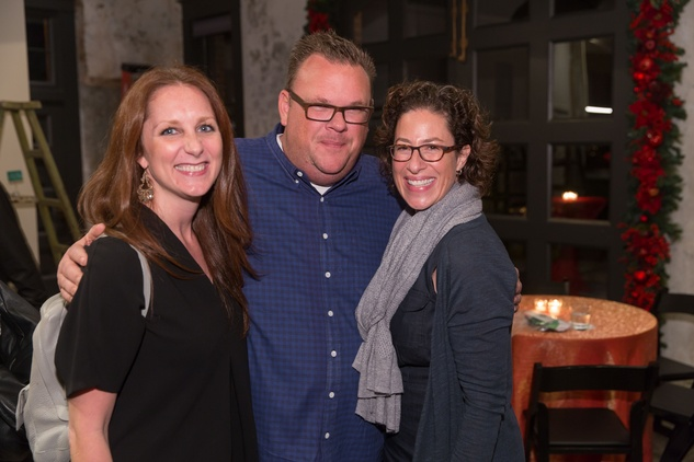News, Laura Spanjian party, Dec. 2015, Lindsey Brown, Chris Shepherd, Laura Spanjian