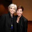 Judy Nyquist, left, and Roseann Rogers at Masterpiece Evening April 2014