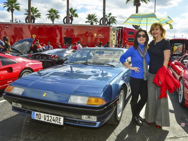 11 Kim Shoemaker, left, and Dana Kervin at the Ferrari Festival November 2013