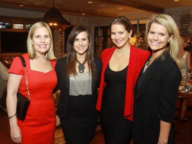 63 Emily Boggs, from left, Natalie Griffin, Erin Hangen and Cara Howe at the M.D. Anderson Santa's Elves party December 2013