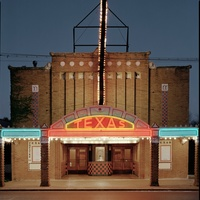poster 2014 Texas Book Festival photo of Texas Theater in Seguin by Dan Winters