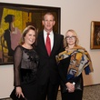 17 Kari Gonzales, from left, John Dagley and Lana Page at the MFAH Georges Braque opening reception February 2014