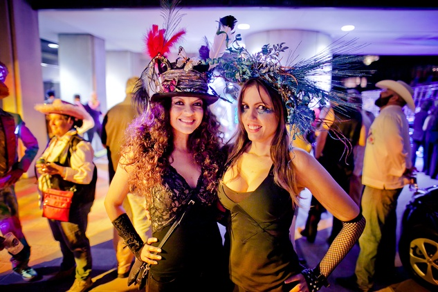 238 Hessed Honstein, left, and Niabi Ariel at the Art Car Ball April 2015