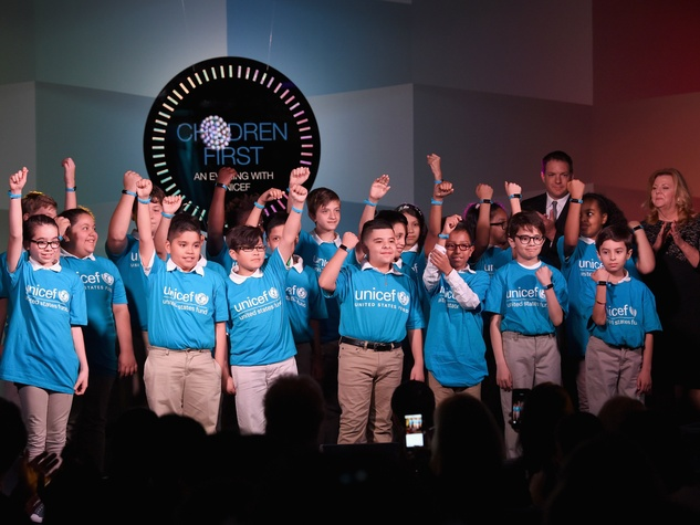 Children perform at the third annual Children First. An Evening with UNICEF.