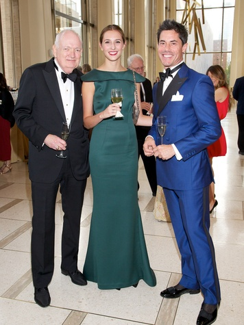 9 Jackson Hicks, from left, Margaret Tudor and Milton Townsend at the New York Philharmonic Opening Night October 2013