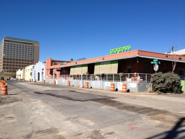 Progress Coffee exterior on East Fifth Street