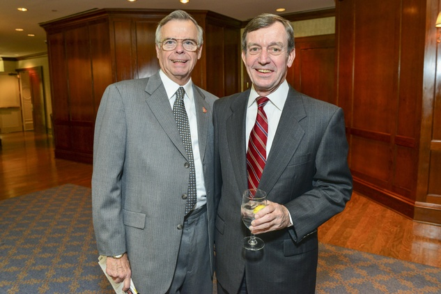 Dave Armstrong, left, and Rich Walton at the Hospice Butterfly luncheon April 2014.