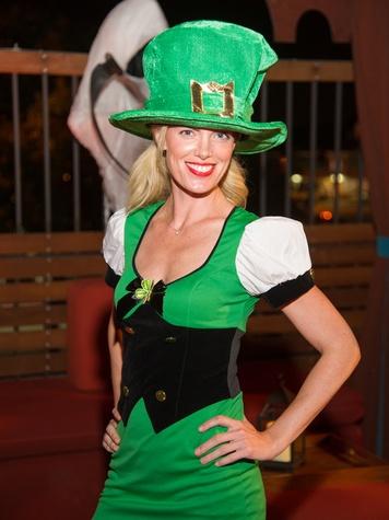 Katie Flaherty at the St. Luke's PULSE Saints & Sinners Halloween party October 2013