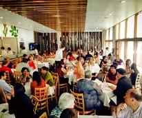Sorrel Urban Bistro restaurant dining room with crowd August 2013
