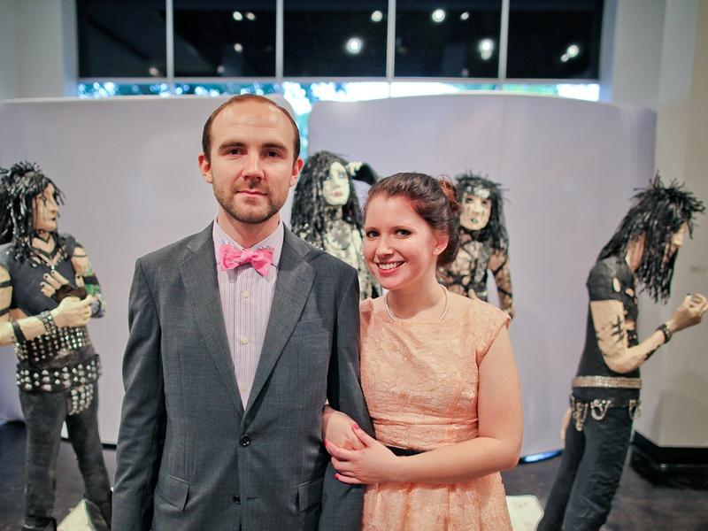 Lawndale Art Center The Big Show VIP reception July 2013 John Forse and Melinda Laszczynski
