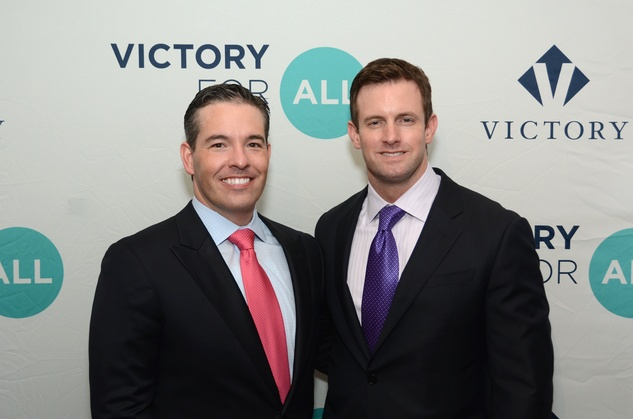 80 Dr. Mark McMasters, left, and Richard Holt at the Victory Brunch March 2015
