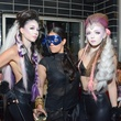 Jacy Cooper, from left, Ila Sodhani and Kady Smalley at the Brasserie 19 Halloween party October 2014