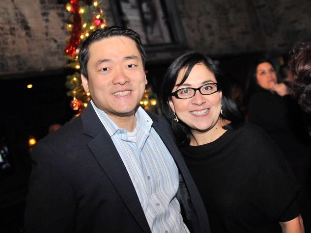 Gene Wu and Kathleen Martinez at the Mayor's Hispanic Advisory Board Holiday Party December 2013