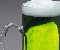 News_green beer_beer mug_closeup_St. Patrick's Day