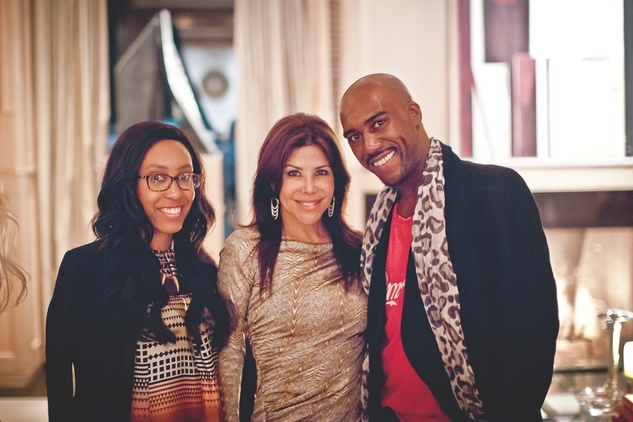 39 Veronique Liverpool, from left, Ericka Bagwell and Travis Cal at the Pam & Gela party November 2014