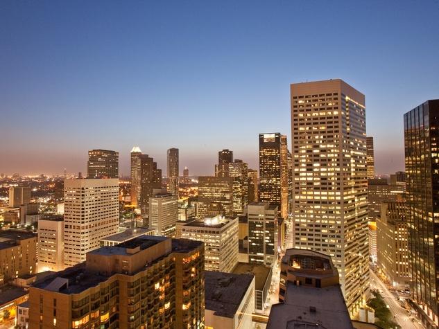Houston, skyline, night