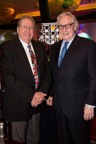 6 Dr. Richard E. Wainerdi, left, and Dr. O.H. Bud Frazier at The Social Book 2015 Launch Party January 2015