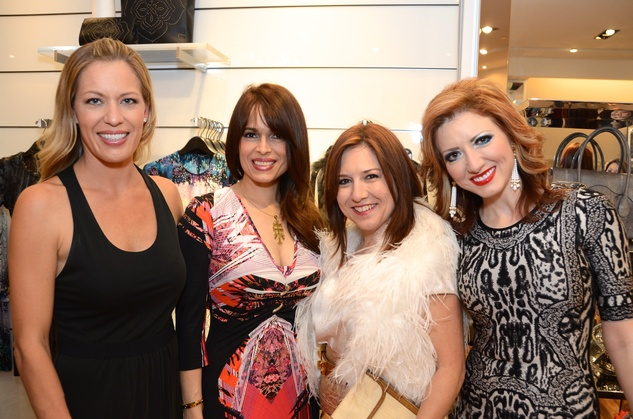 9 Christensen Biggs, from left, Karina Barbieri, Donae Chramosta and Yasmine Haddad at Mandy Kao and Nihala Zakaria birthday party October 2014