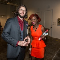 Justin Garcia and Ashley Small at Justin Garcia presents 7 Unlayered October 2014