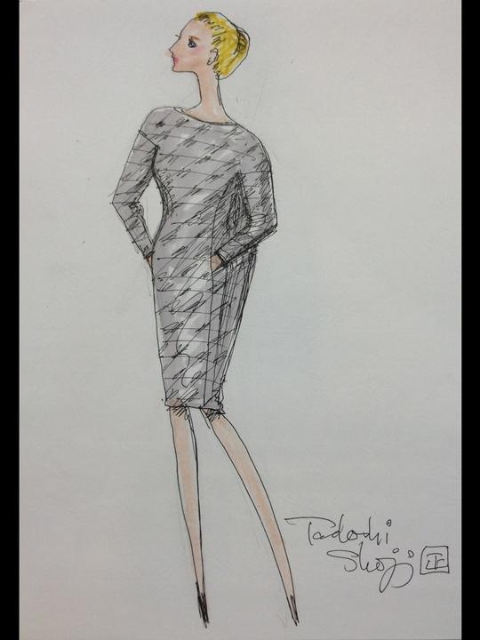 Fashion Week fall 2013, sketches, January 2013, Tadashi Shoji