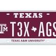 No. 9 top 10 Texas license plates 2013 TAMU-T3X-AGS