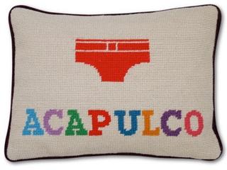 Jonathan Adler Acapulco needlepoint pillow
