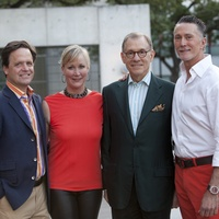 Christopher Gardner, from left, Sara Dodd, Gary Tinterow and Gregory Fourticq Jr. at the Glassell School benefit and auction May 2014