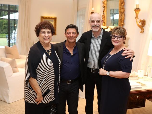 Houston, Cynthia and Anthony Petrello cocktail reception for Tommy Tune, Nov. 2016, Maureen Patton, Patrick Rinn, Michael Biagi, Cissy Segall Davis