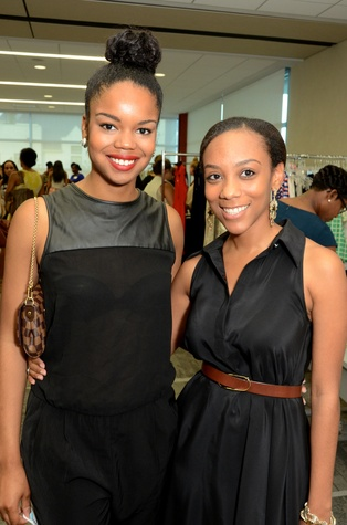 Jailyn Marcel, left, and Jasmine Grindle at WOW's Membership Drive June 2014