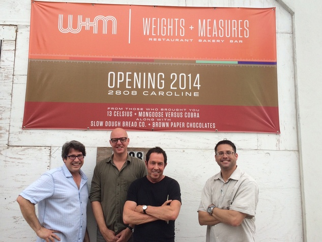 Heath Wendell, Mike Sammons, Richard Kaplan, Ian Rosenberg, owners of Weight + Measures