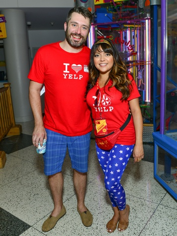 9 Matt Eyman and Farrah Akhtar at the Children's Museum Freak Out Friday June 2014.