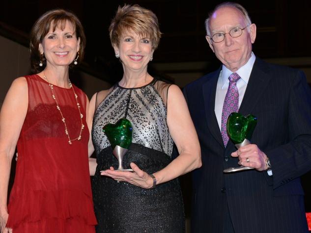 Karen Wald, Alliance Data; Sharon Herrin; and Roy Pendergrass, Jr. – Milton P. Levy, Jr. Outstanding Volunteer Award Co-Recipients