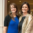 Emily McCarthy, left, and Lisa Mason at the Young Life dinner February 2015