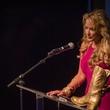 AFW Award show  Rochelle Rae, of Rae Cosmetics, accepts a 2013 Trailblazer award
