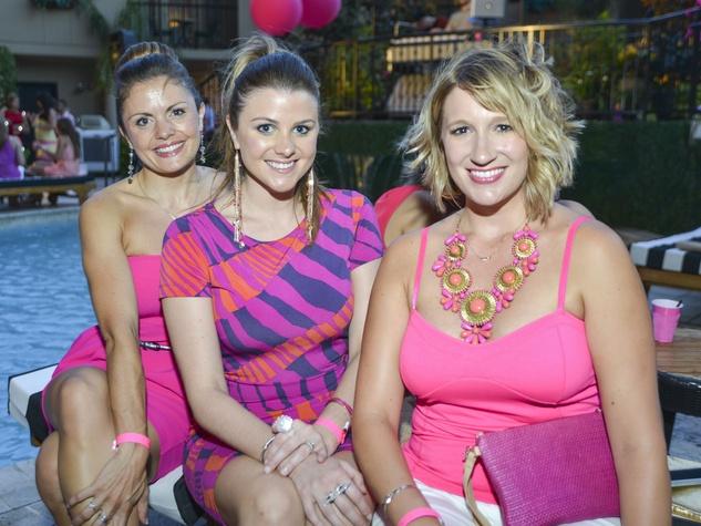 Kristine Higgins, Holly DeMaster, Allison Bagley at Party in Pink at Hotel ZaZa, July 2013