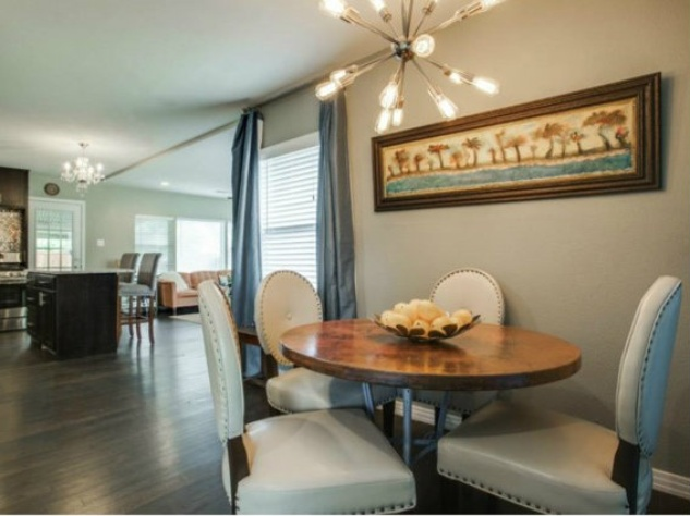 Kitchen and dining at 6464 Fisher Rd. in Dallas