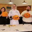 pumpkin carving video October 2013 Marcy de Luna, man and Eric Sandler