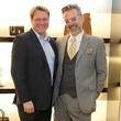 Matt Burrus and Michael Pearce at Blue Cure party at Tom Ford